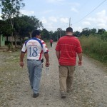 Eric and his good friend Jorge walking the town.
